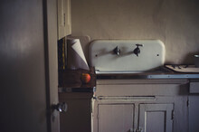 Vintage Sink And Kitchen With ...