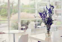 Bouquet Of Flowers In An Empty...