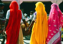Women In Colourful Saris In Ja...