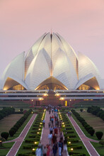 India, Delhi, Lotus Temple, Th...