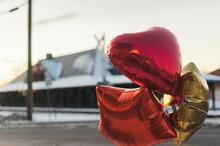 Three Shiny Mylar Baloons