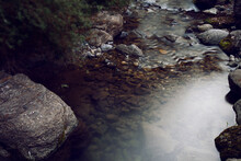 Mountain Stream At Morning
