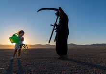 Horror Grim Reaper Holding Is ...