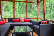Muskoka Room With Modern Sectional Furniture