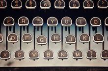 Vintage Typewriter Keyboard Close-up