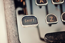 Vintage Typewriter Shift Key