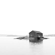 Boat House On An Island