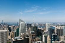 New York Skyline And Hudson River