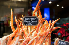 Alaskan King Crab Legs Being S...