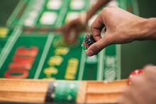Casino: Man Placing Bet In Gam...
