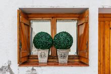 Antique Rural Wooden Window