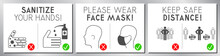 Face Mask Required, Distance, ...