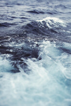 Close Up Of Wavey Blue Sea Water