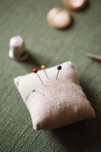 Pins On Pincushion