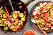 Brussels Sprouts, Mushrooms An...