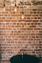 Blank Brick Interior Wall With...