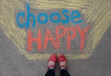 Feet Standing Above A Positive...