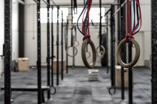 Gymnastic Rings In A Gym
