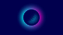 Abstract Circle Background Wit...