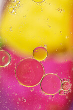 Oil And Soap Droplets Background