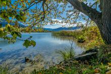 View At A Beautiful Lake In Su...