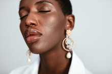 Black Woman With Plump Lips An...