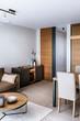 Cozy living room in contemporary interior