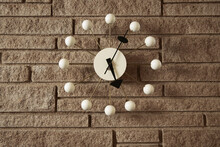 Vintage Clock On A Wall Inside...