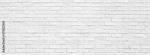 Photo white brick wall may used as background
