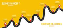 Infographic Road Illustration ...