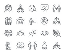 Business Line Icon Set Vector ...