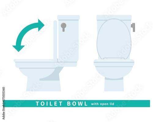 Fototapeta トイレ 便器 清潔 掃除 修理 水洗 タンク 蓋