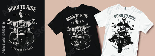 Foto Born to ride motorcycle t-shirt design