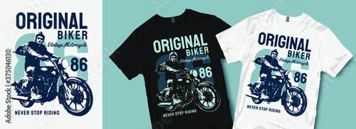 Stampa su Tela Original biker motorcycle t-shirt design