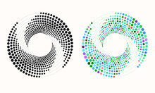 Random Dotted, Dots, Halftone ...