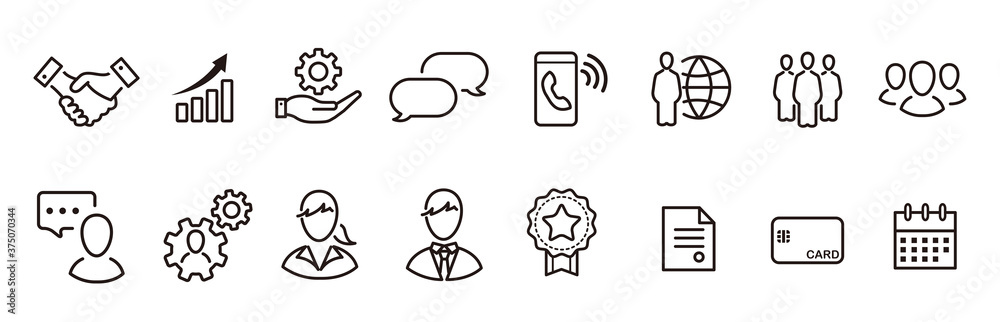 Fototapeta business loyalty icons vector sign