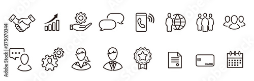 Fotomural business loyalty icons vector sign