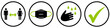 canvas print picture - Coronavirus Regeln schwarz grün: Distanz / Abstand, Mundschutz / Maske, Hygiene / Hände waschen