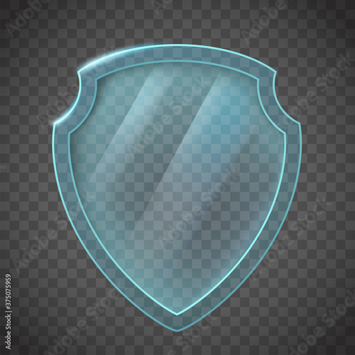 Foto Glass shield. Icon isolated on transparent background.