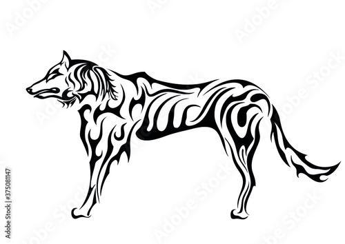 фотография eskimo dog abstract tattoo sticker symbol