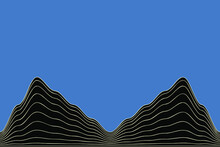 Abstract Vector Wave Line Back...