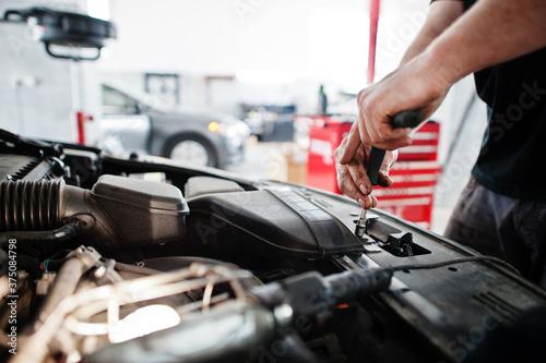 Obraz na plátně Car repair and maintenance theme