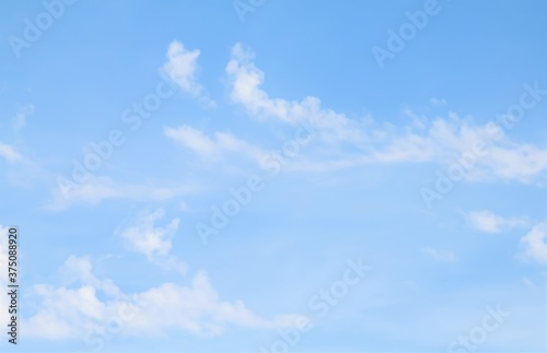 Blue sky with white clouds, background sky.