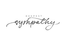 With Sympathy Hand Drawn Vector Calligraphy. Ink Brush Black Paint Lettering Isolated On White Background. Modern Phrase Handwritten Vector Calligraphy. Postcard, Greeting Card, T Shirt Print.