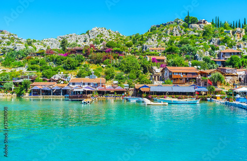 Tourist village on Kekova bay, Turkey Canvas Print