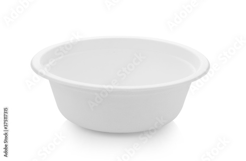 Foto papper bowl on white background