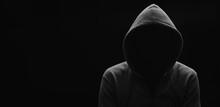 Dark Mysterious Man In A Hoodi...