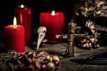 Vodun Or Voodoo Ritual Table W...