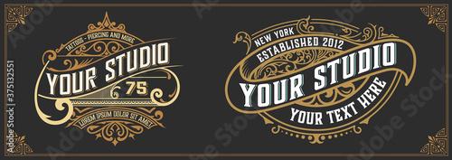 Stampa su Tela Tattoo logo template
