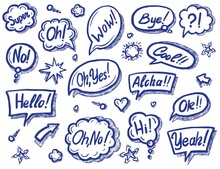Speech Bubble. Art Speech Chat...